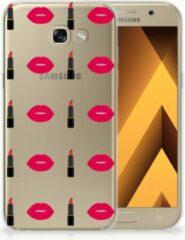 Samsung Galaxy A5 2017 TPU Siliconen Hoesje Design Lipstick Kiss
