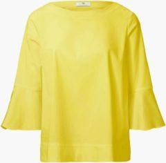 Shirt met 3/4-mouwen Van Peter Hahn geel