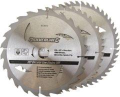 Silverline Tct Cirkelzaagblad, 24, 40, 48 Tanden, 3 Stuks (235 X 30 - 25 En 16 mm Ringen)