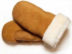 Bernardino Bruine Lammy wanten suede voor volwassenen - Handschoenen schapenwol 8 (L - 20,5 cm)