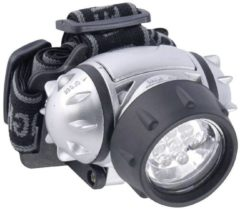 Zilveren Grundig Hoofdlamp – 7x5x1cm | Verlichting met houder om het hoofd | Zaklamp Handsfree | Kluslamp