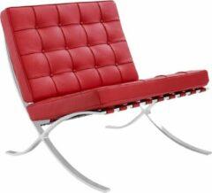 Rode Expo fauteuil premium leer