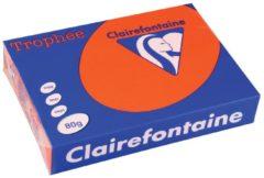 Rode Papier kleur felrood A4 80 g Clairefontaine Trophée levendige kleuren - Riem van 500 vellen