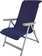 Marineblauwe Eurotrail Towelling Chair Cover M Stoelovertrek Navy Blue