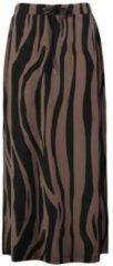 Expresso midi rok Goldy met zebraprint roodbruin/zwart