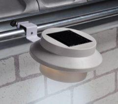 Haushalt 70192 - Dakgoot Led Solar lampen - set van 2 - Wit - 600mAh