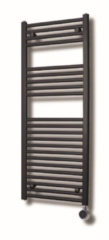 Elektrische Design Radiator Sanicare Plug En Play 111,8 x 45 cm Mat Zwart Thermostaat Chroom 596 Watt