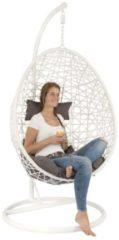 Khadija Hangstoel - ei - egg chair - woondecoratie - wit - lounge stoel - slaapkamer - woonkamer - Rotan - Bohemian deco