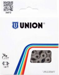 Zwarte Union kett 1/2x1/8 anti roest