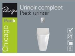 Plieger B.v Plieger Chicago urinoir pack met deksel, spoelmechanisme en bedieningspaneel matchroom wit URINOIRPACK COMPLEET