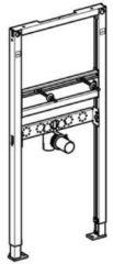 Geberit Duofix wastafel-element opbouw H112cm hart-op-hart afstand 5-38cm zonder bevestingsset voorzetwand 111434001