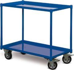 Protaurus TAUROFLEX Tischwagen 250 kg mit 2 Ladeflächen und dichten Stahlwannen, 84 x 45 cm