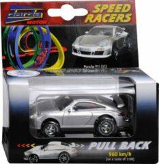Zilveren Darda Porsche 911 GT3 speelgoedvoertuig