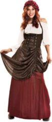 VIVING COSTUMES / JUINSA - Middeleeuws serveerster kostuum voor vrouwen - XL - Volwassenen kostuums