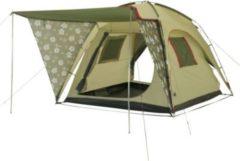 10-T Outdoor Equipment 10T Flowerville 4 - 4-Personen Design Kuppel-Zelt mit Vario-Vordach in Blumendekor extra hoch WS=3000mm