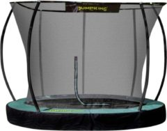Jumpking Trampoline Inground Deluxe 3,05 Meter Zwart/groen
