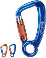 XINDA XD-Q9651 Aluminum 30KN Climbing Carabiner Auto D-shape 3-Way Lock Aerial Safety Accessory Climbing Rigging