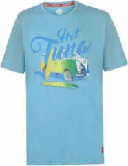 Lichtblauwe Hot Tuna Printed T-Shirt - Maat XL - Heren - Licht blauw