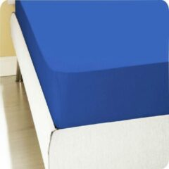 Homéé® pure'cotton Homéé® Hoeslaken Jersey stretch (tot 30cm) 140/150x200/220 100% katoen | ventilerend, comfortabel en luchtig eenpersoons Blauw