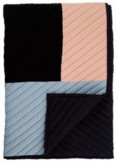 Zwarte Mae Engelgeer - Contour - Bedsprei - Eenpersoons - 180x260 cm - Zwart