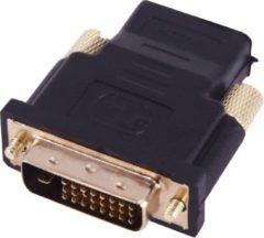 HDMI Female naar DVI (24+1) Male Adapter | Zwart / Black | TrendParts