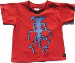 B & C Anha'Lore Designs - Allien - Kinder t-shirt - Rood - 5/6j (110/116)