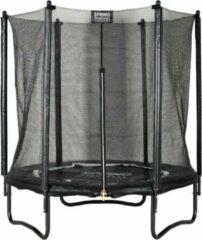 SPRING Trampoline 183 cm (6ft) met veiligheidsnet - Black Edition - zwarte rand