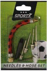 SportX Balpomp Accessoire Set met 4 Naalden + Verloopstukje en Slang