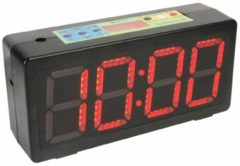 Zwarte Velleman Chronometer / aftel / interval / digitale klok groot LED display