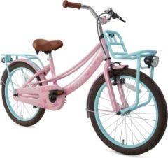 Supersuper Lola Meisjesfiets 20 Inch Meisjes V-brakes Roze/turquoise