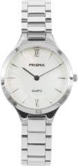 Prisma P.1460 Horloge staal/parelmoer zilverkleurig 28 mm