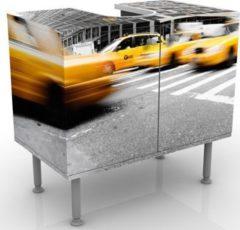 PPS. Imaging Waschbeckenunterschrank - Rasantes New York - Badschrank Gelb Grau