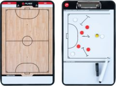 Beige Pure2Improve Coach-bord dubbelzijdig zaalvoetbal 35x22 cm P2I100650