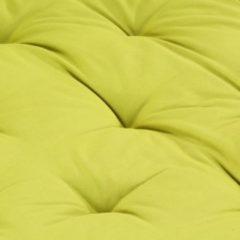 VidaXL Palletvloerkussen 120x80x10 cm katoen groen