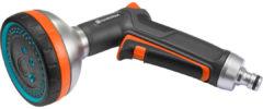 Oranje GARDENA Premium metalen broes - 5 verschillende stralen - vorstbestendig