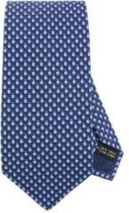 Blue SALVATORE FERRAGAMO Cravatta 8 Cm In Pura Seta Con Fantasia Di Coccinelle All Over