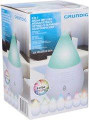 Witte Grundig aroma diffuser - color changing - brengt geur en sfeer - met 10 ml olie - 17,5 cm - Ø 11 cm