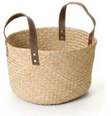 Bruine Fair Trade Original - Mand Zeegras M Leren Hengsels