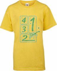 Groene Fruit of the Loom Normaal Dirk Scheele Unisex T-shirt Maat 116