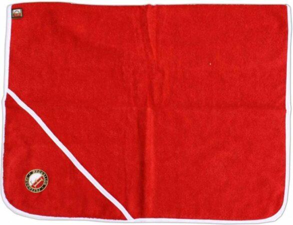Afbeelding van Feyenoord Hooded Babyhanddoek Logo, Rood, 75x75cm
