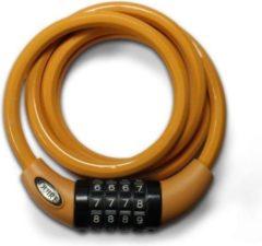 Oranje Squire Cable lock tangerine, combinatie fietsslot 1.8m