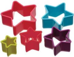 Colour Works Colourworks - 5-Delige Koekjes Uitsteek Bakvorm Set – Ster
