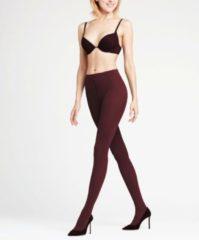Bordeauxrode Sokken en panty's Panty Pure matt 50 by Falke