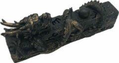 Bronze Peperbol Wierook houder Draak liggend - wierook slede - wierook brander - wierook box