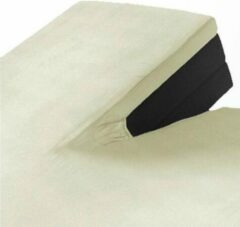 Creme witte Suite sheets Split Topper Jersey Hoeslaken Crème 160 x 200/220