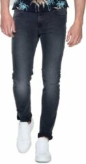 Antraciet-grijze Scotch & Soda Skim slim fit jeans met donkere wassing