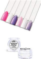 Paarse IBP Mix & Mingle Nail Art mermaid effect violet 5gr
