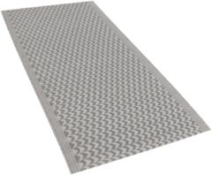 Beliani Buiten-vloerkleed zagzag patroon grijs 60 x 90 cm. MANGO
