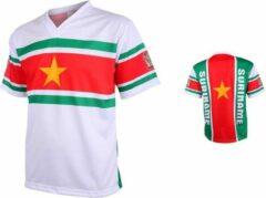 Groene Merkloos / Sans marque Suriname Voetbalshirt Thuis-158