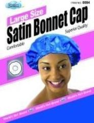 Zwarte Dream World Dream Large Size Satin Bonnet Cap